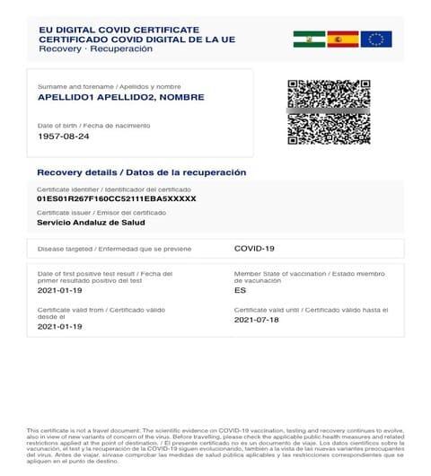 11Viajar a Egipto - Certificado que confirme que el titular se ha recuperado de la COVID-19 - Viajes GoPro